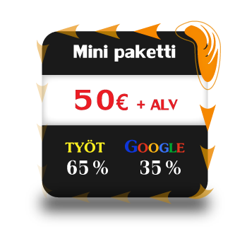 Google Adwords mainospaketti Funlus